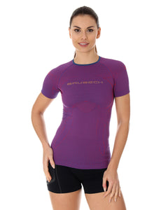 Women's Top 3D Run PRO Short Sleeve Purple