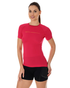 Women's Top 3D Run PRO Short Sleeve Raspberry