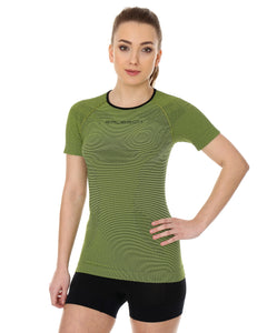Women's Top 3D Bike PRO Short Sleeve Lime