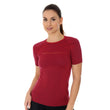 Load image into Gallery viewer, Women's Top 3D Run PRO Short Sleeve Burgundy Front