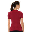 Load image into Gallery viewer, Women's Top 3D Run PRO Short Sleeve Burgundy Back