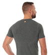 Load image into Gallery viewer, Men's Top OUTDOOR WOOL Short Sleeve Grey Back