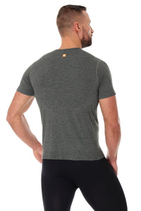 Men's Top OUTDOOR WOOL Short Sleeve Grey Back