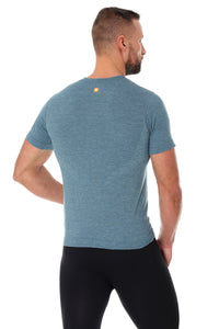 Men's Top OUTDOOR WOOL Short Sleeve Steel Back
