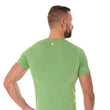 Load image into Gallery viewer, Men's Top OUTDOOR WOOL Short Sleeve Green Back