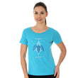 Load image into Gallery viewer, Women's Top OUTDOOR WOOL Short Sleeve Light Blue