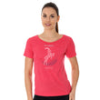 Load image into Gallery viewer, Women's Top OUTDOOR WOOL Short Sleeve Raspberry