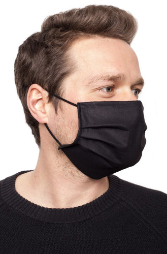 Man wearing protective face mask