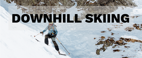 Man backcountry Skiing Image, Downhill Skiing Collection