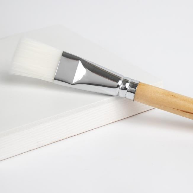Synthetic Mask Brush With Bamboo Handle
