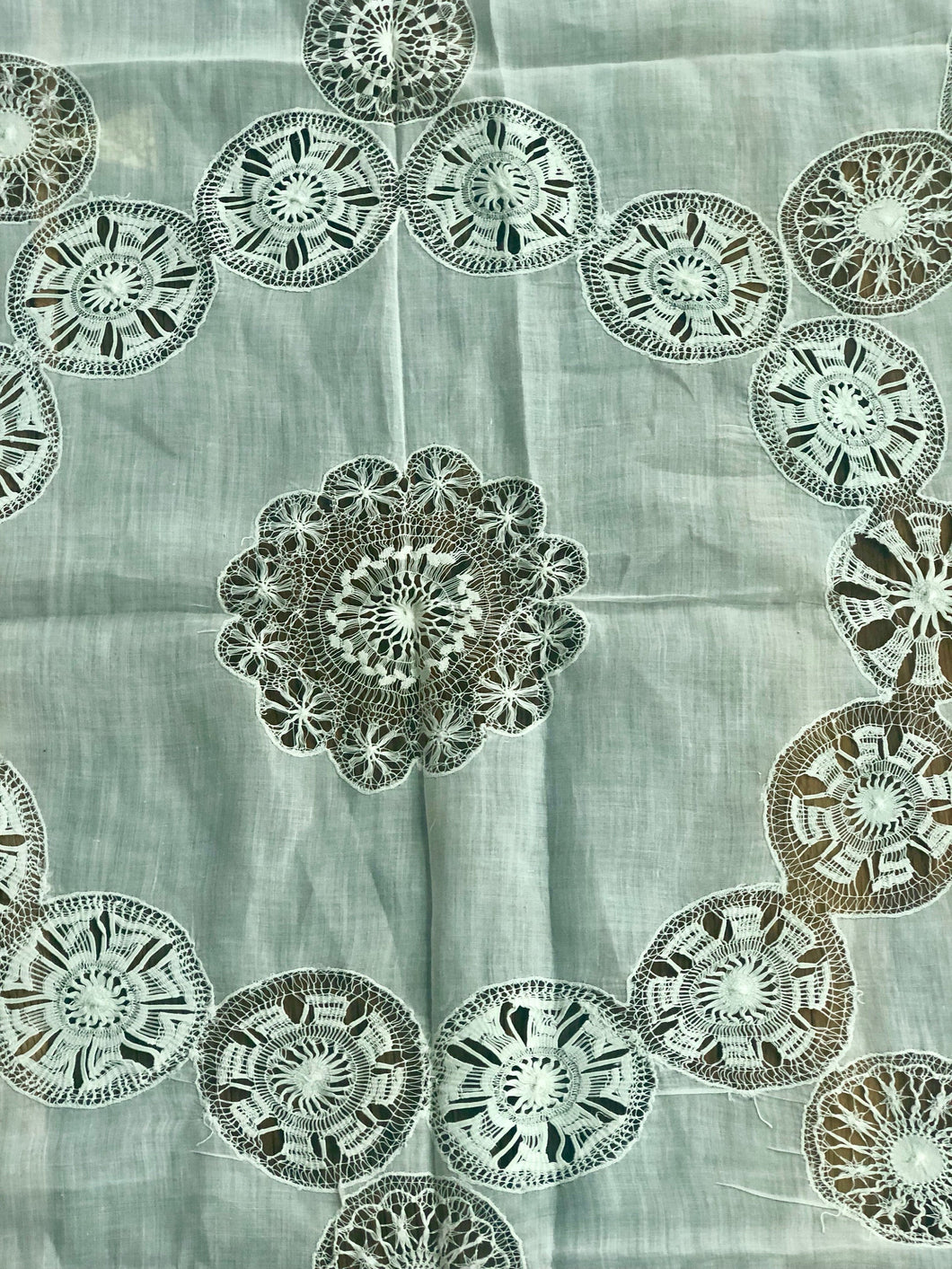 Antique Tablecloth - 1900- Small Tablecloth - LuluBoopVintage