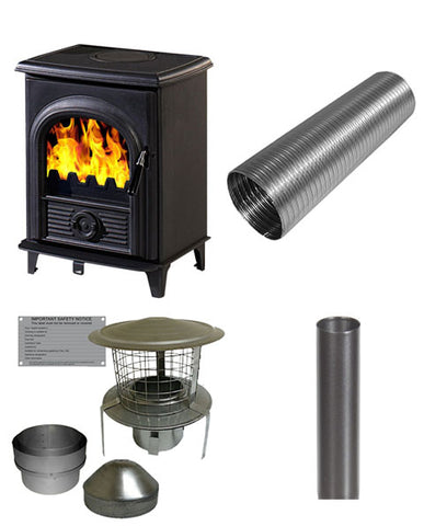 Alpha 1 Stove & Flue Bundle