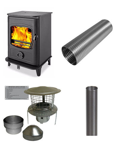 Graphite 5 Stove & Flue Bundle