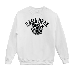 Mama Bear Crewneck White