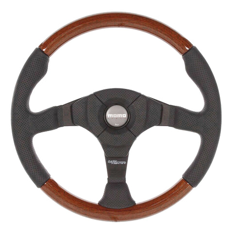 MOMO Dark Fighter Wood Steering Wheel - 350mm