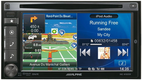 Alpine Double DIN Sat Nav System - Fully Fitted