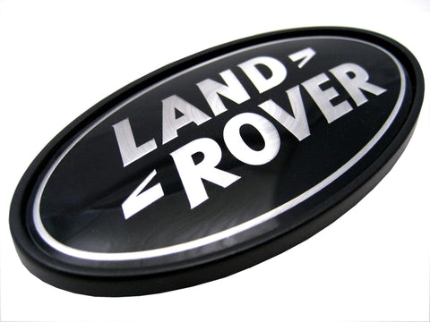Genuine LR 'Land Rover' Black Badge (WITH PLINTH)