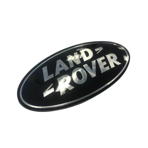 Genuine LR 'Land Rover' Black Badge (WITHOUT PLINTH)