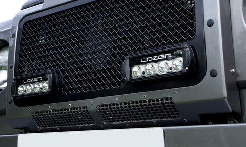 Lazer Grille with 2 x ST-4 LED Light Bars - 200mm