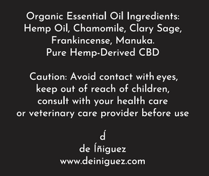Calming Anti-Anxiety Wolf Serum by de Íñiguez -- with 100mg Hemp-Derived CBD (10ml/0.3oz)