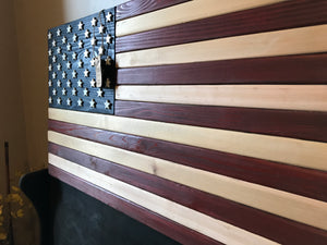 Custom Heritage, wood flag, wooden flag