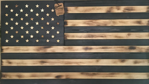 wood flag, wooden flag