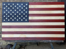 Load image into Gallery viewer, The Americana, wood flag, rustic flag, Custom Heritage Flag Co.