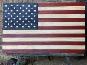The Americana, wood flag, rustic flag, Custom Heritage Flag Co.