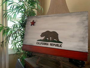 wood flag, wooden flag, Custom Heritage