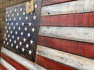 """Ol' Glory"" Tennessee Barn Wood Flag"