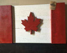Load image into Gallery viewer, Custom Heritage, wood flag, wooden flag