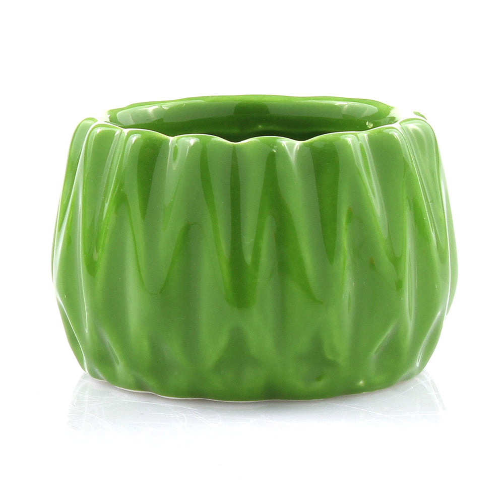 Green Ceramic Round Accent Planter Pot