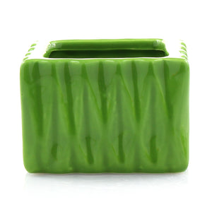 Green Ceramic Square Accent Planter Pot