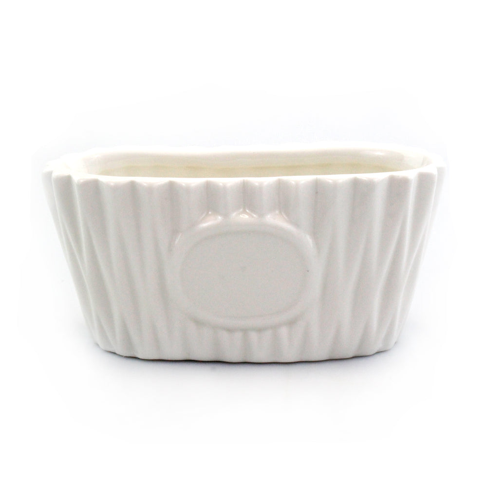 White Oval Pot