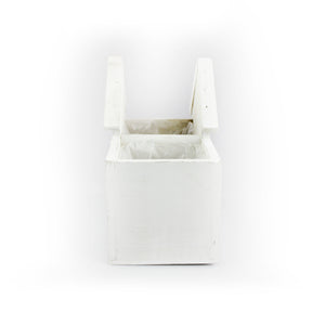 White Wooden Small House Planter