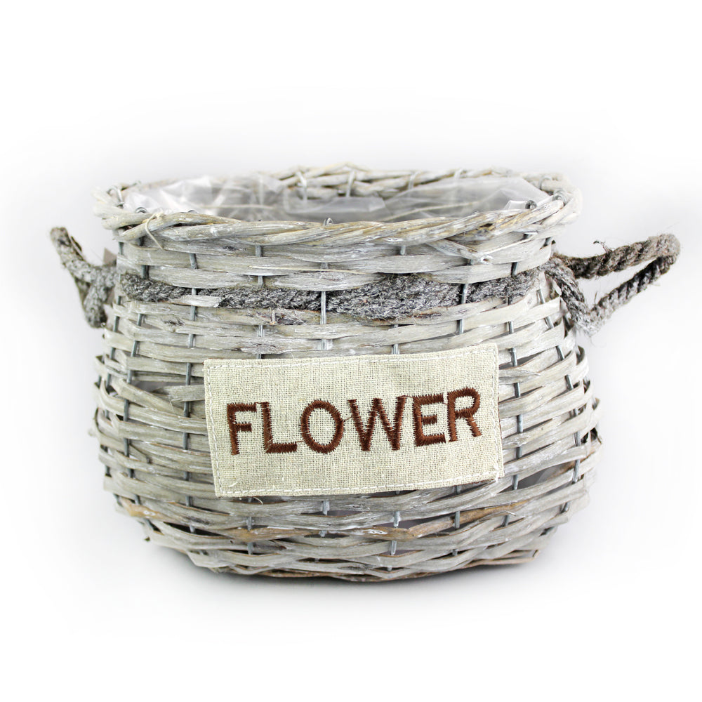 Brownish Wicker Basket - Medium