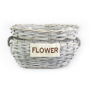 Brownish Wicker Basket - Large