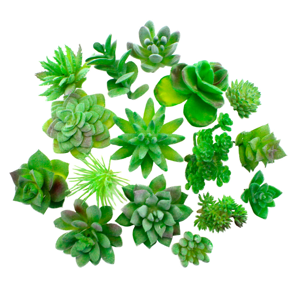 16 Pieces Artificial Succulents - Faux Succulents