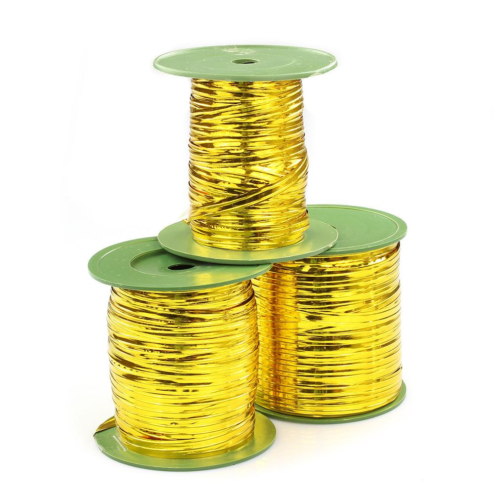 Three rolls of double gold wire used for lucky bamboo