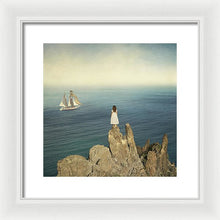 Load image into Gallery viewer, Young woman on the cliff waiting for her sailor to come back