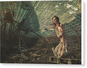 Girl Of The Post-apocalyptic World  - Canvas Print