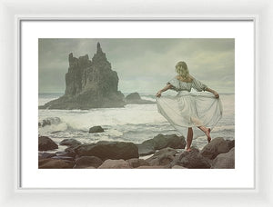 Greeting The Sea - Framed Print