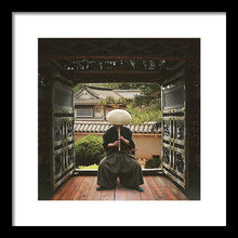 Load image into Gallery viewer, Man dressed in traditional Japanese clothing man playing a Shakuhachi flute, Kyoto, Japan