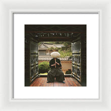 Load image into Gallery viewer, Japanese Man Playing His Flute - Framed Print