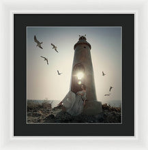 Load image into Gallery viewer, Small Lighthouse  - Framed Print