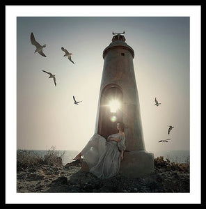 Small Lighthouse  - Framed Print