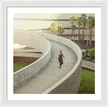 Load image into Gallery viewer, Architectural design of modern building with figure of woman in black clothes