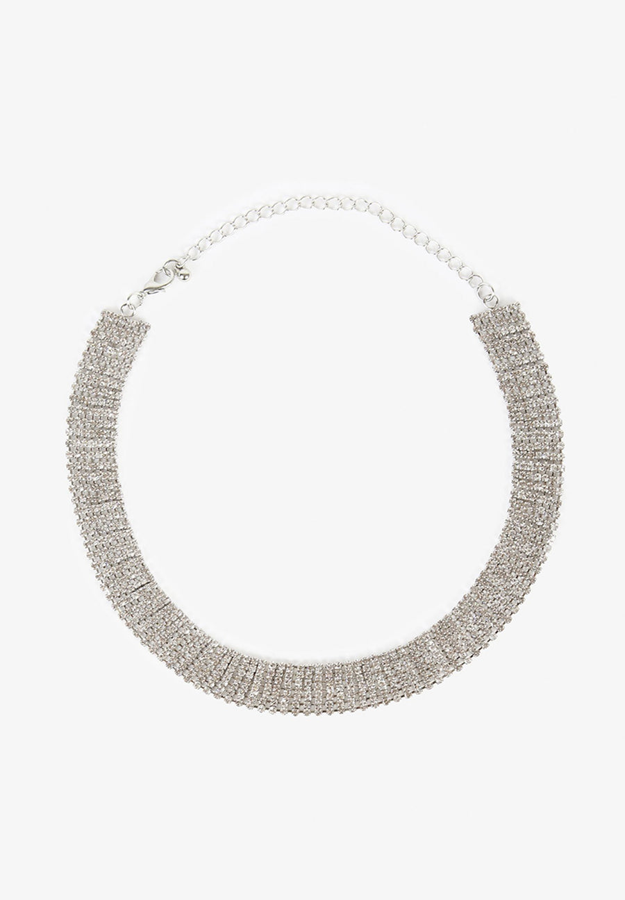 NECKLACE WITH GLASS STRIPS
