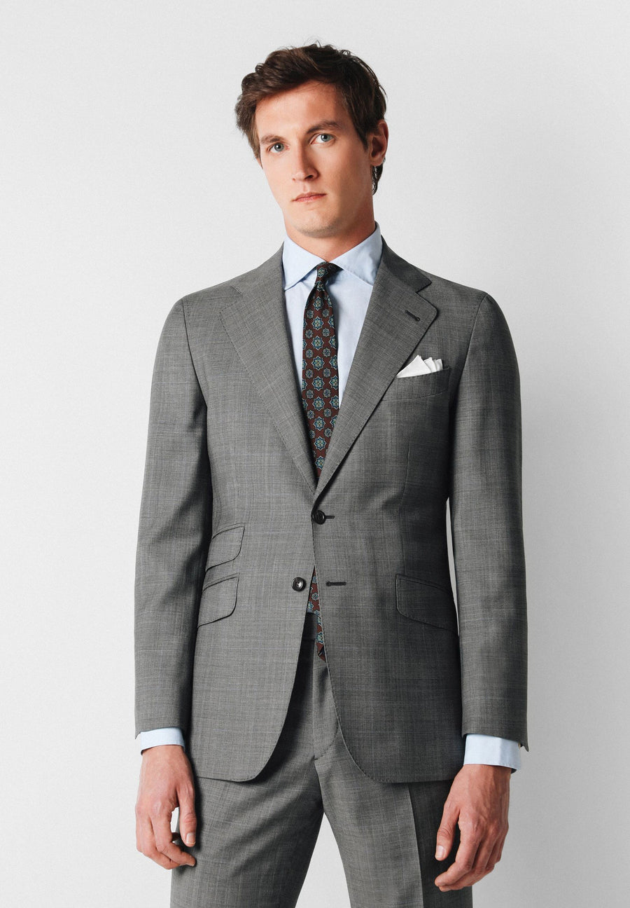 PRINCE OF WALES CHECK SLIM FIT SUIT