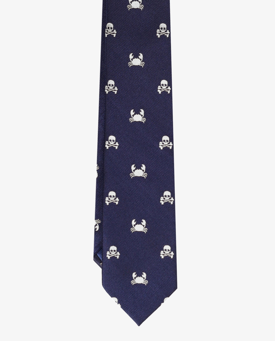 SILK TIE WITH MOTIFS